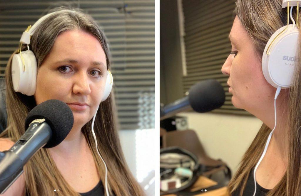 Sudio Klar Bluetooth Headphones Review - me wearing the headphones in the radio studio