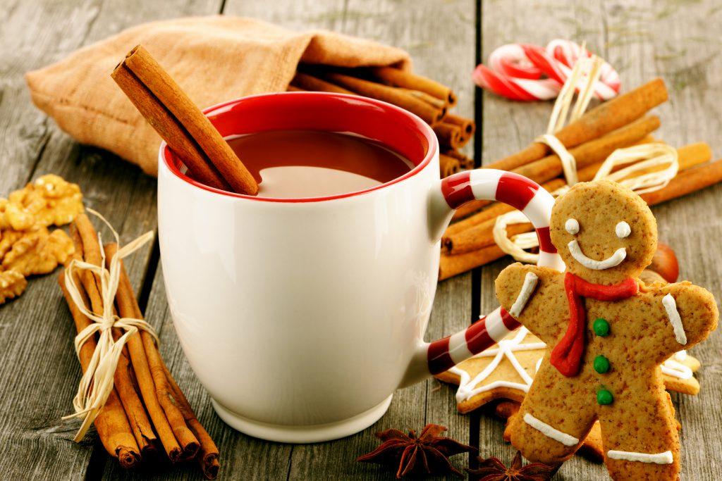 Festive mug with cinnamon in it- make your own mug