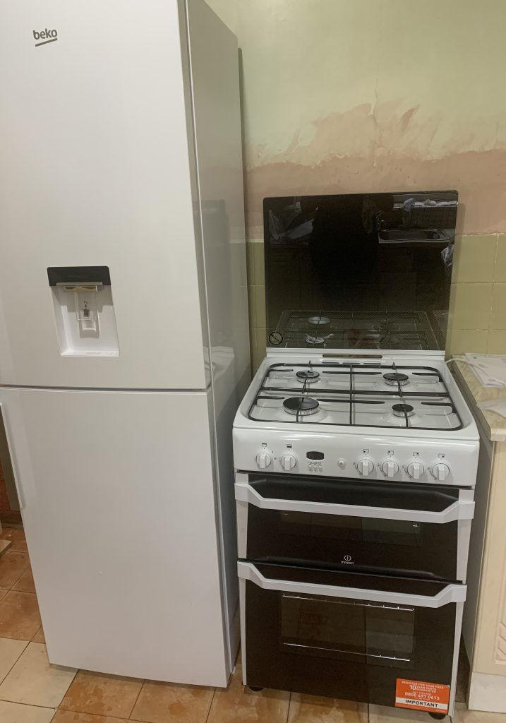 My New Kitchen Appliances - fridge freezer and gas cooker