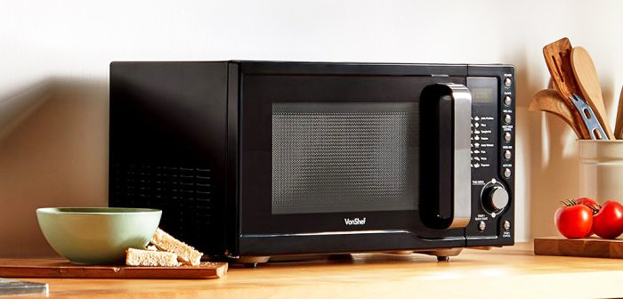 VonShef 23L Digital Microwave review - on the counter