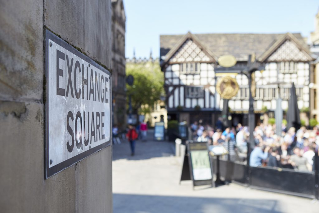 Exploring Manchester City Centre - Exchange Square Manchester