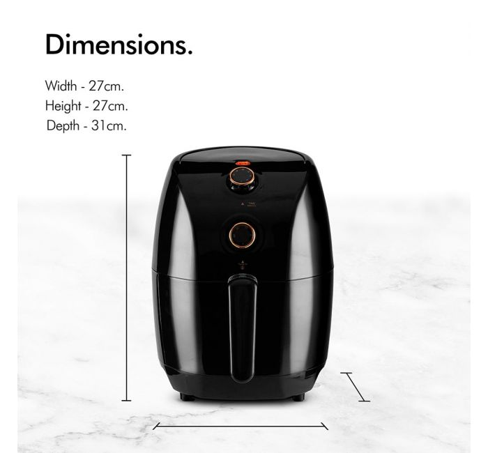 air fryer dimensions