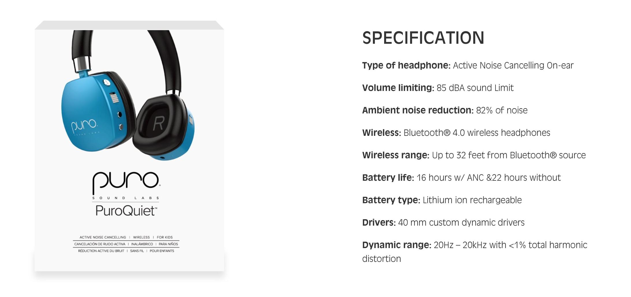 PuroQuiet Headphones