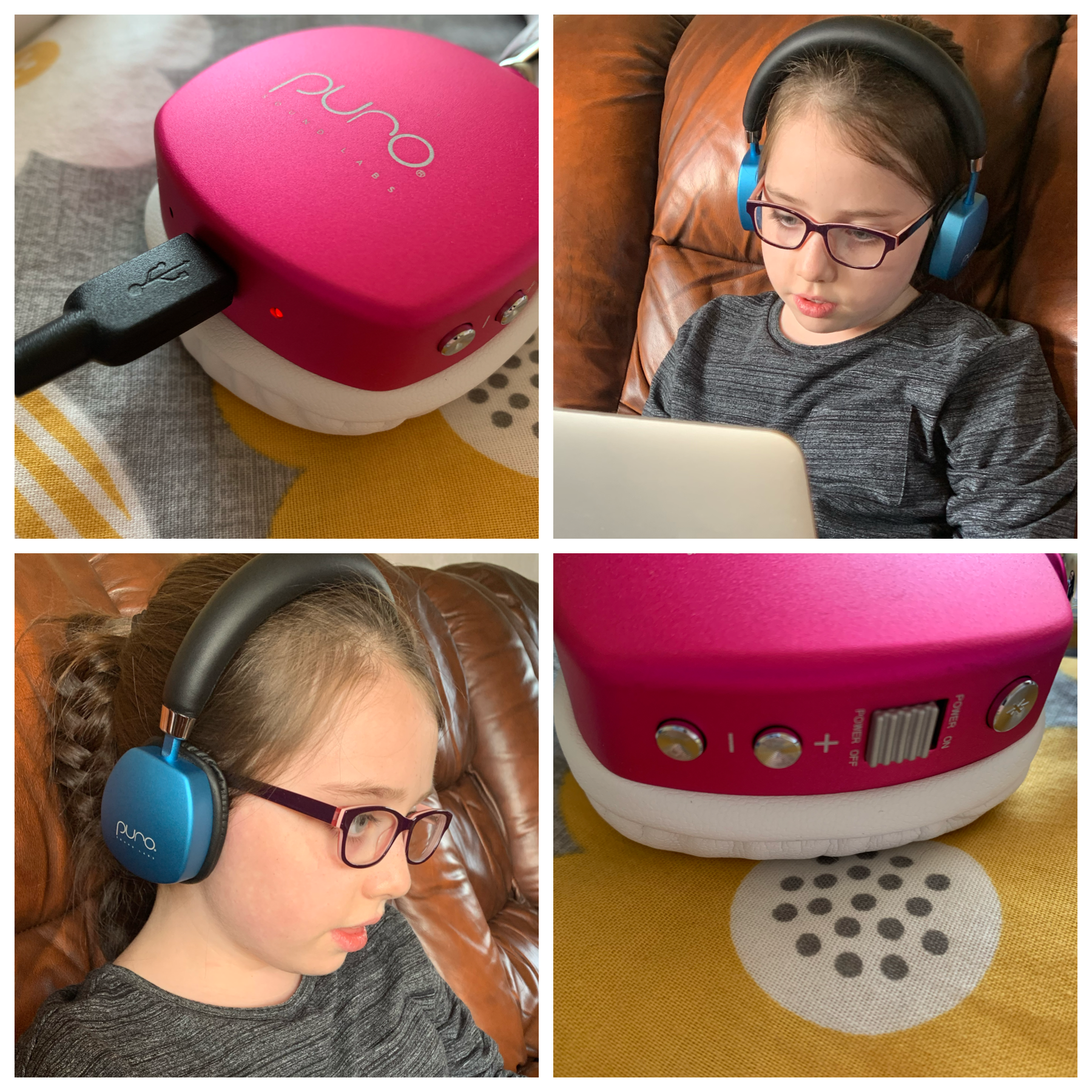Syd wearing her PuroQuiet noise cancelling headphones review