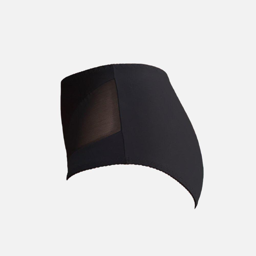 Krutta 145 ms pomelo sexy knicker in black with mesh fuller body plus size