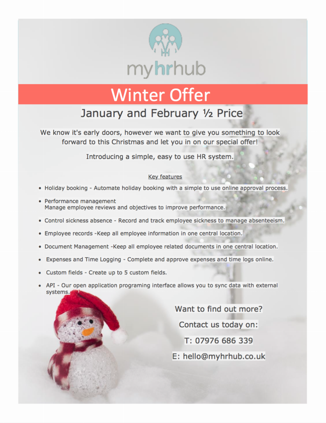 Winter offers