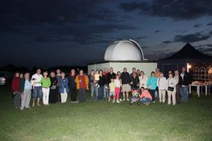 NEAS gathering at the observatory