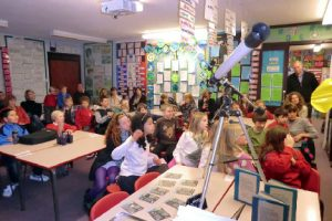 Children learning about astronomy at a NEAS outreach event