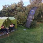 Tents and the NEAS banner at Kelling 2017