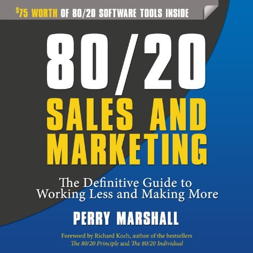 Digital Marketing Books 80/20 sales and marketing