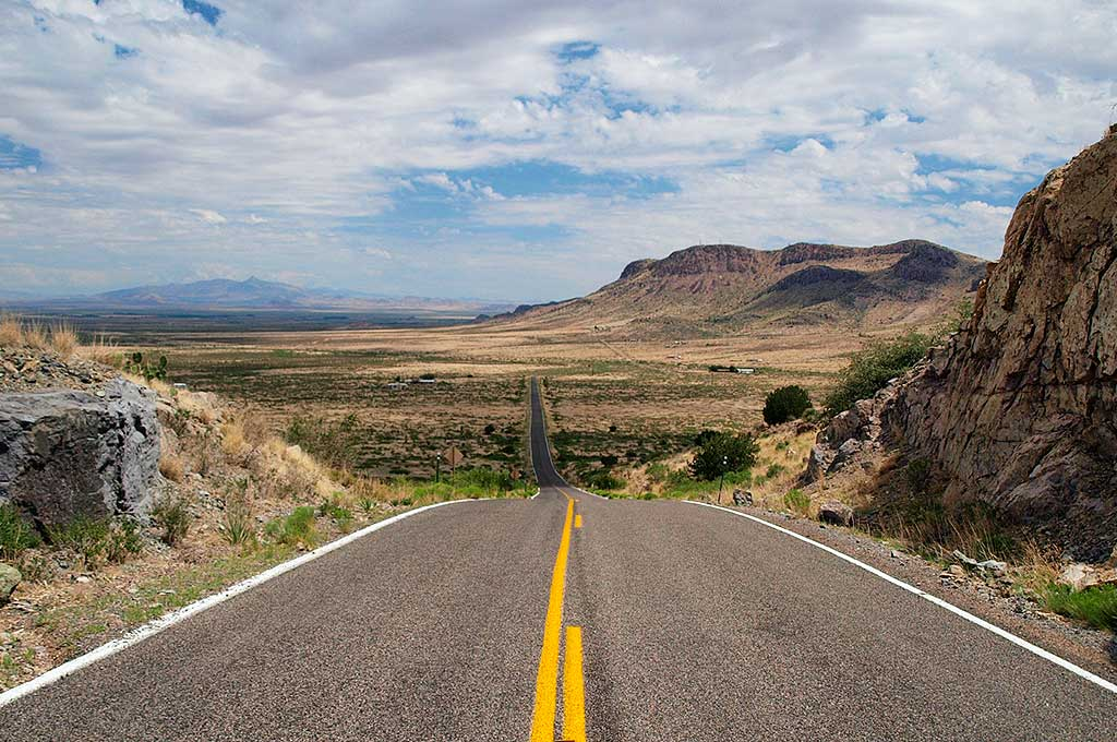 New Mexico road landscape