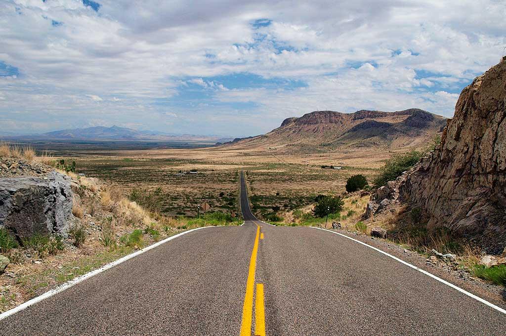 New Mexico road landscape