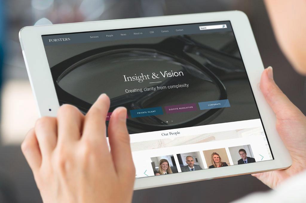 Forsters website on iPad