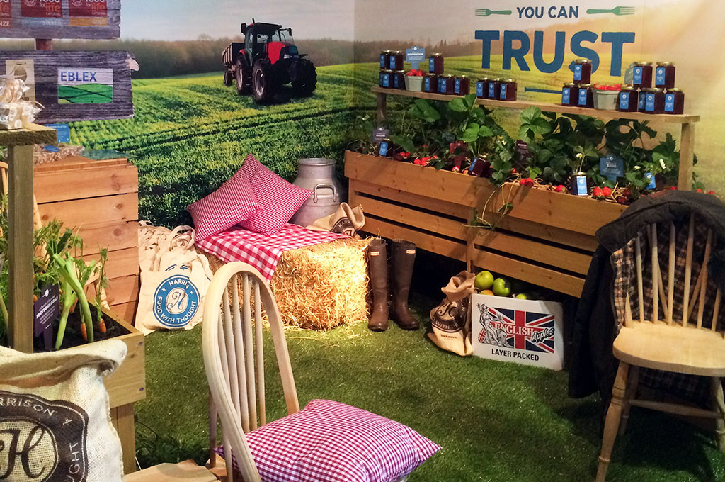 Harrison Catering farm-themed exhibition stand