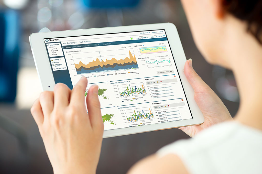 New Relic software on ipad
