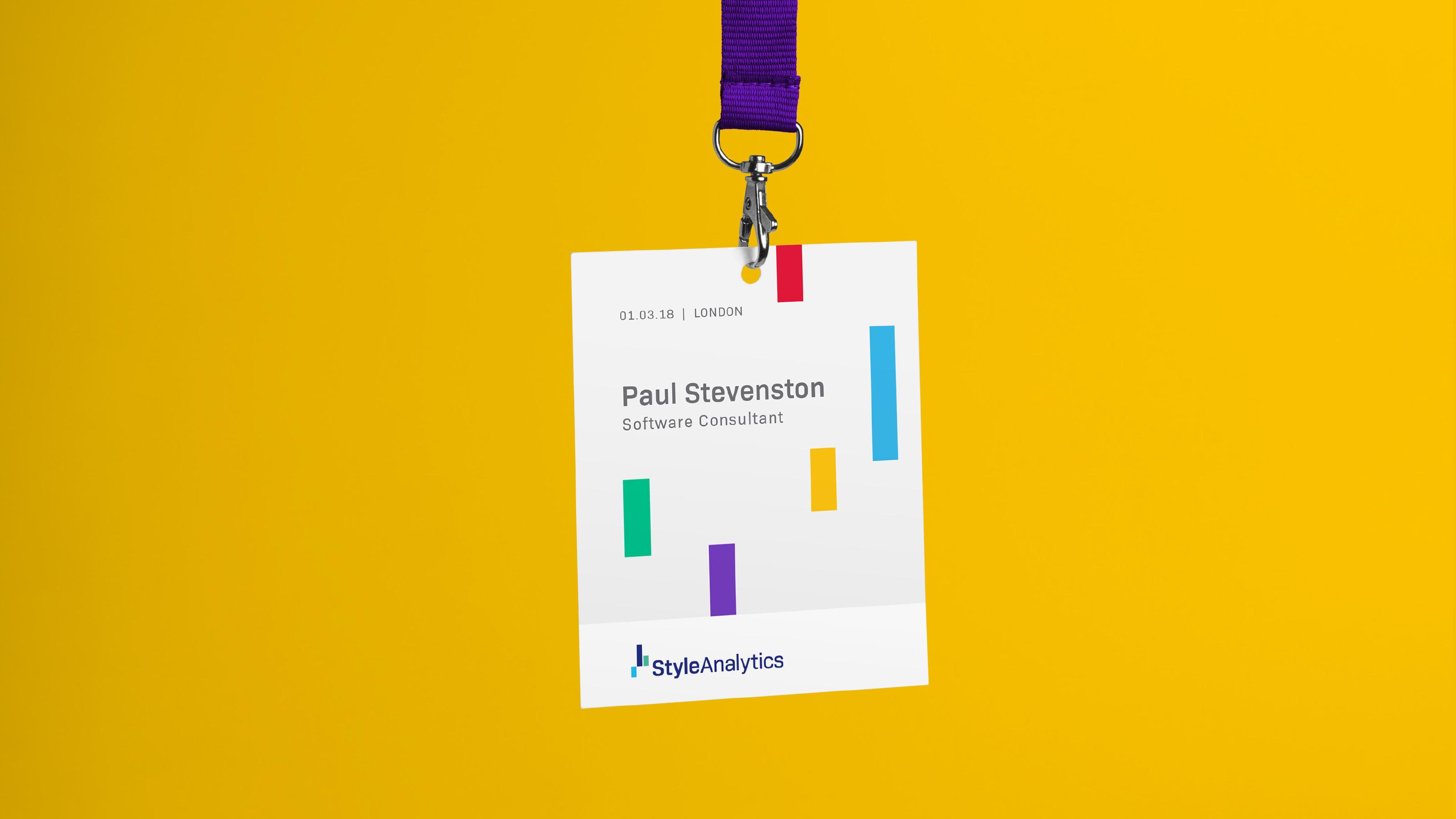 Brand name tag design StyleAnalytics