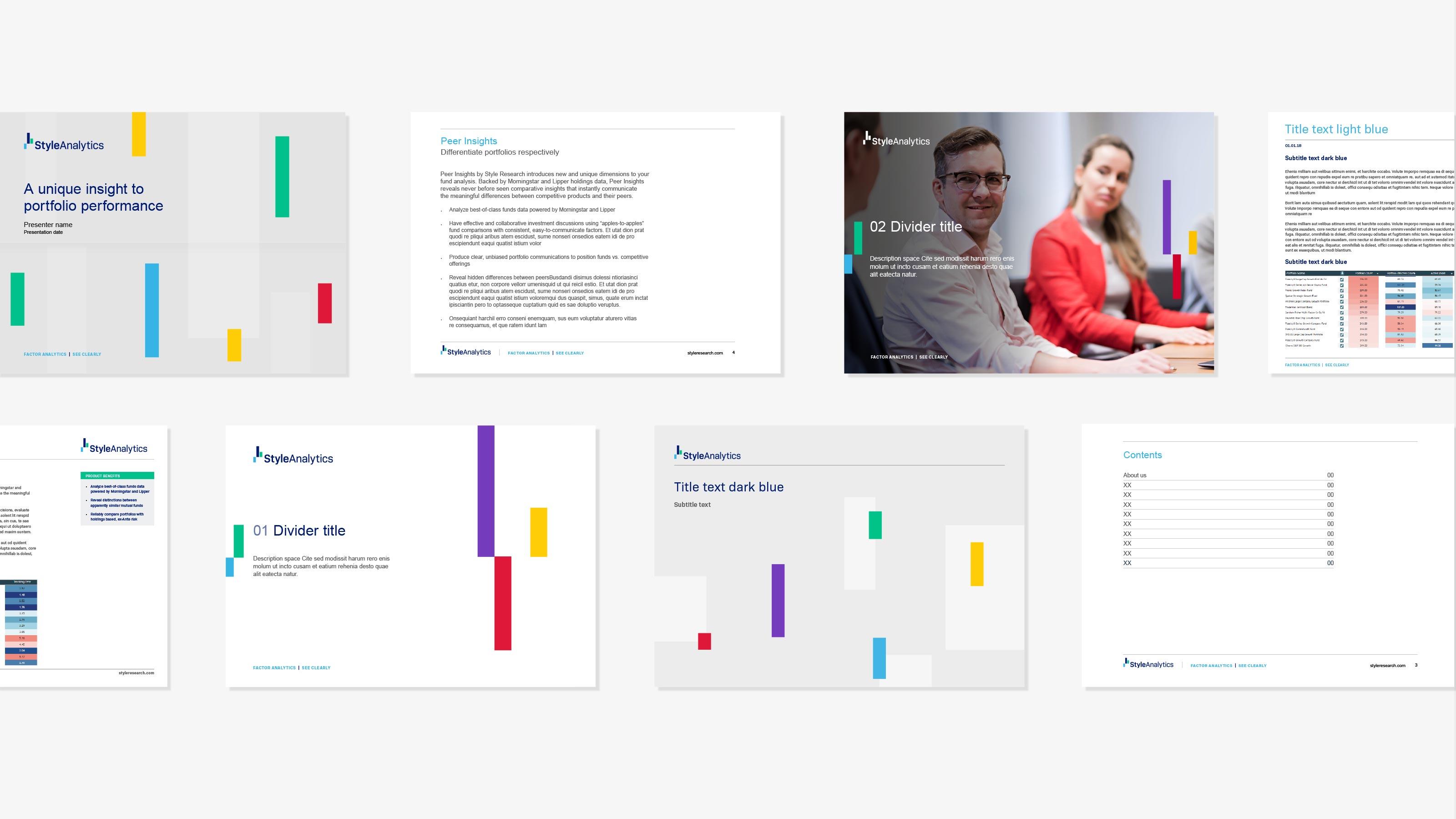 Brand marketing materials design StyleAnalytics