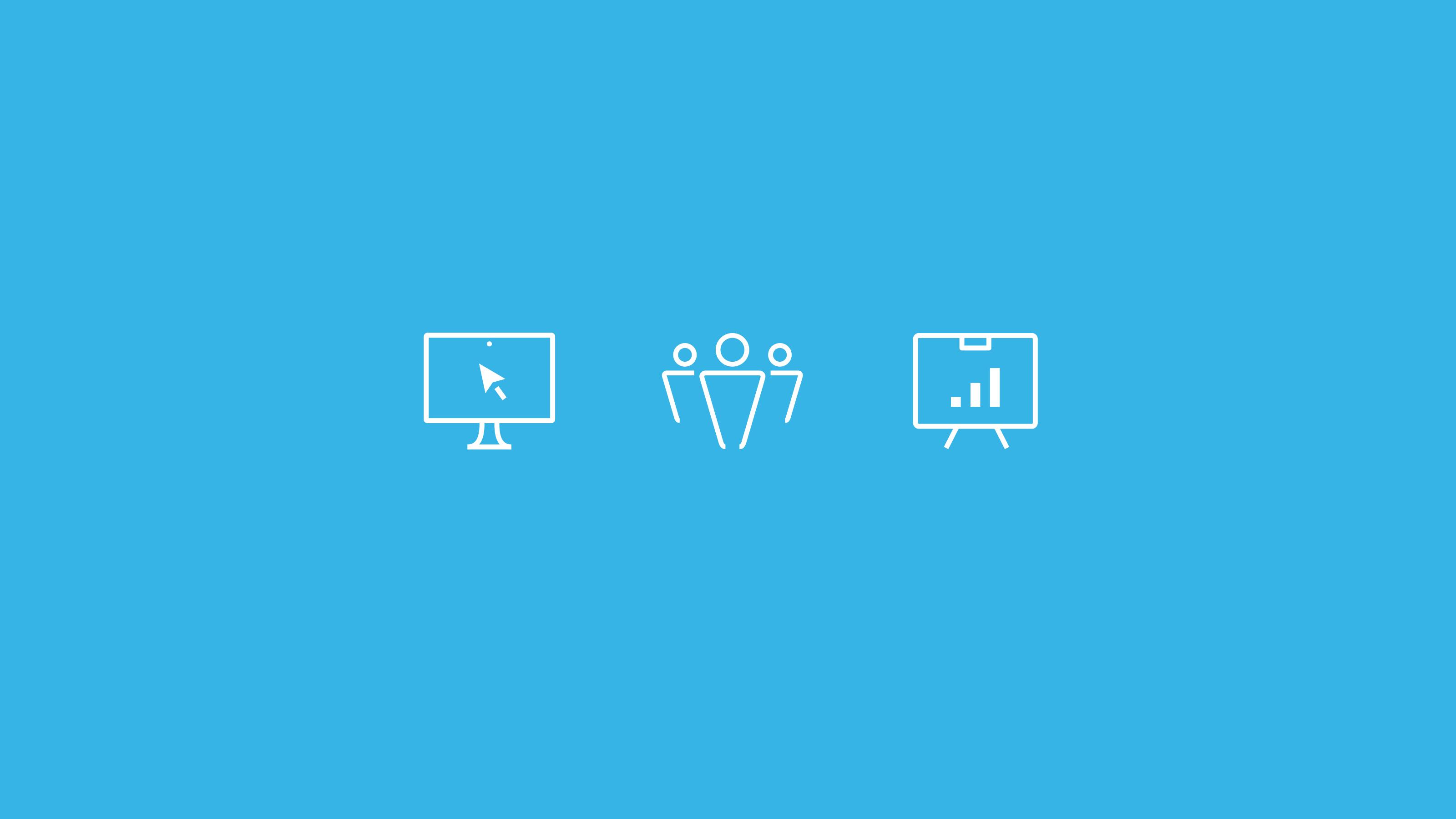 icon design blue background StyleAnalytics