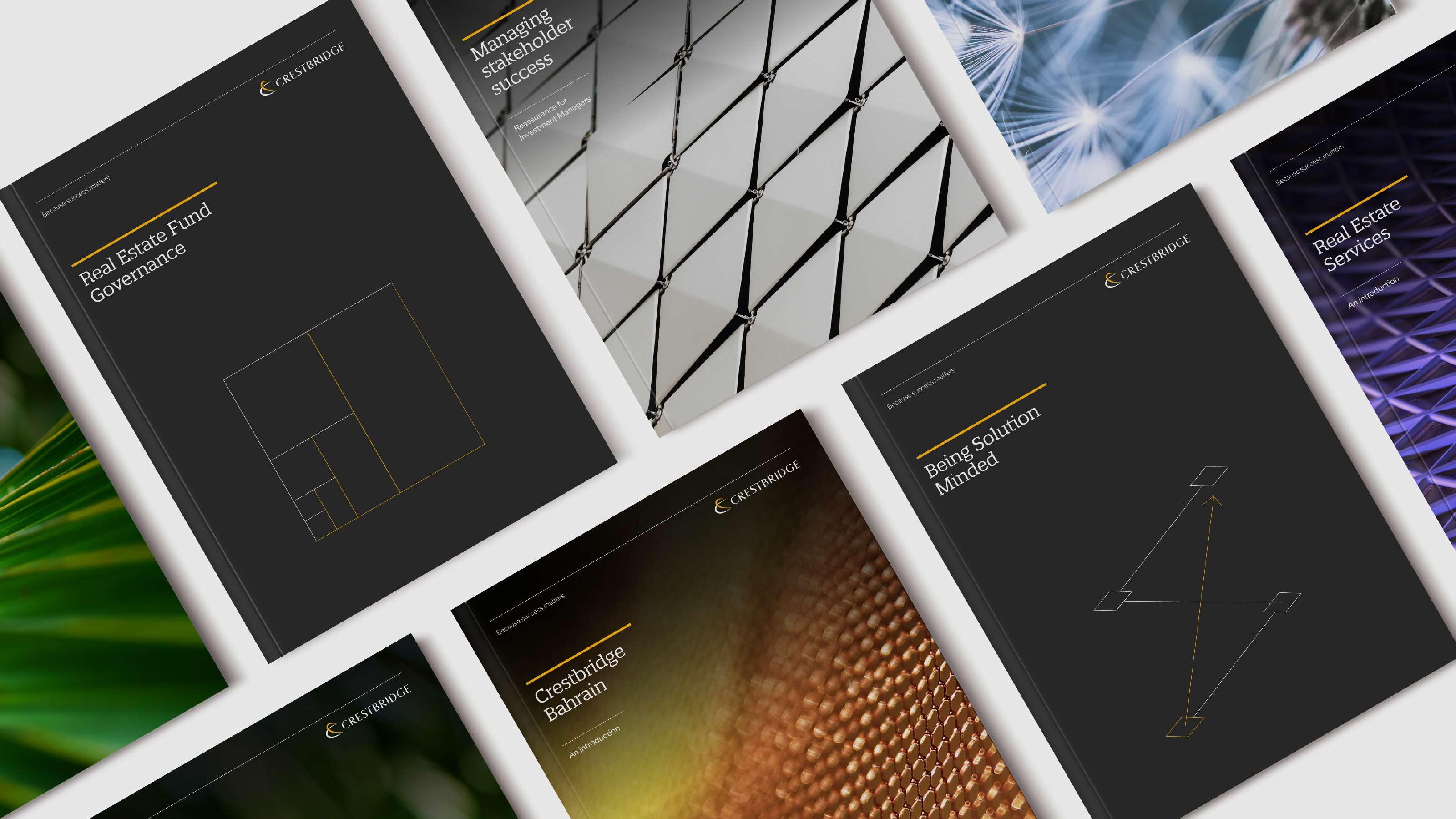 Brand print design Crestbridge