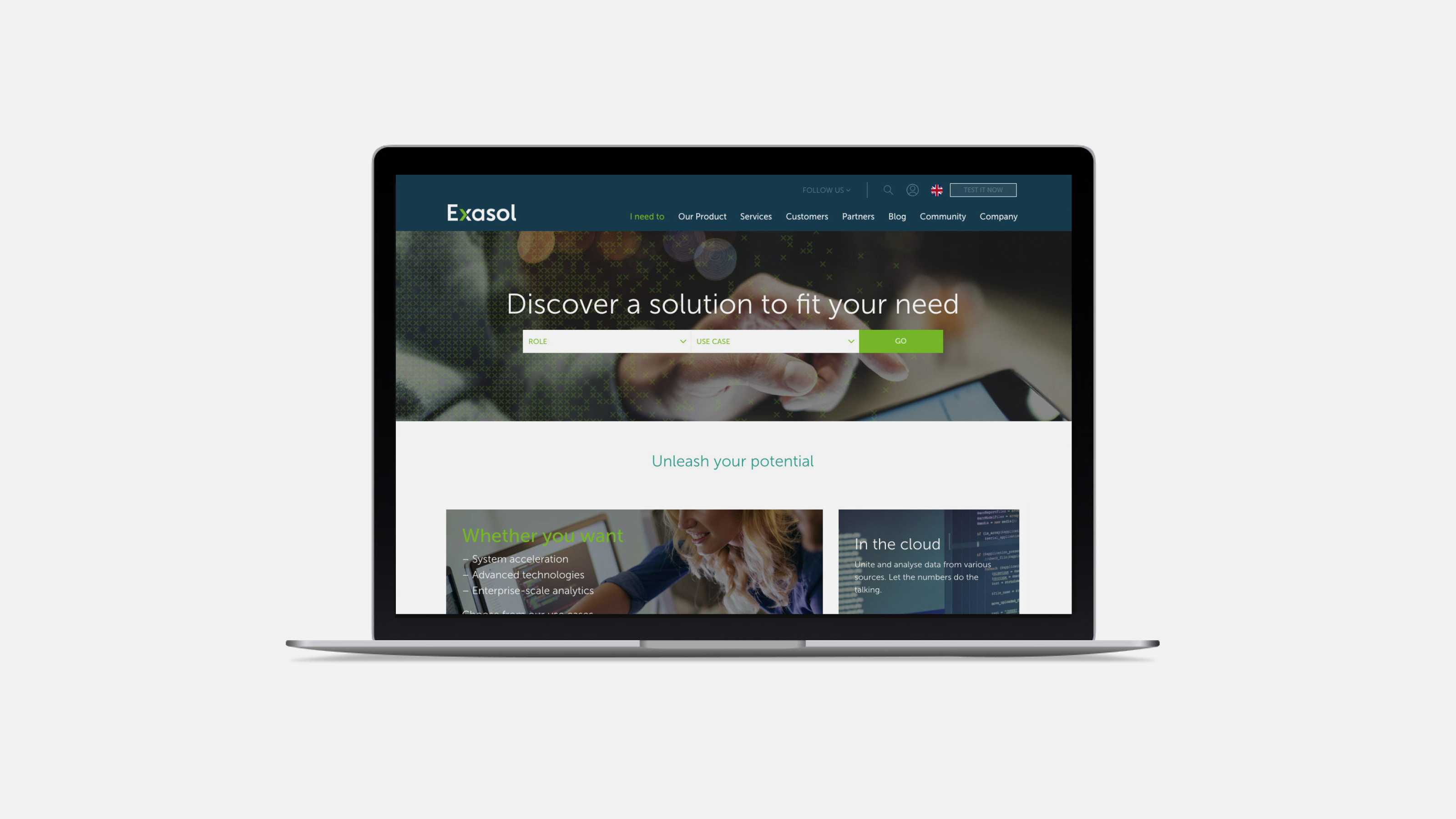 Exasol Digital web design