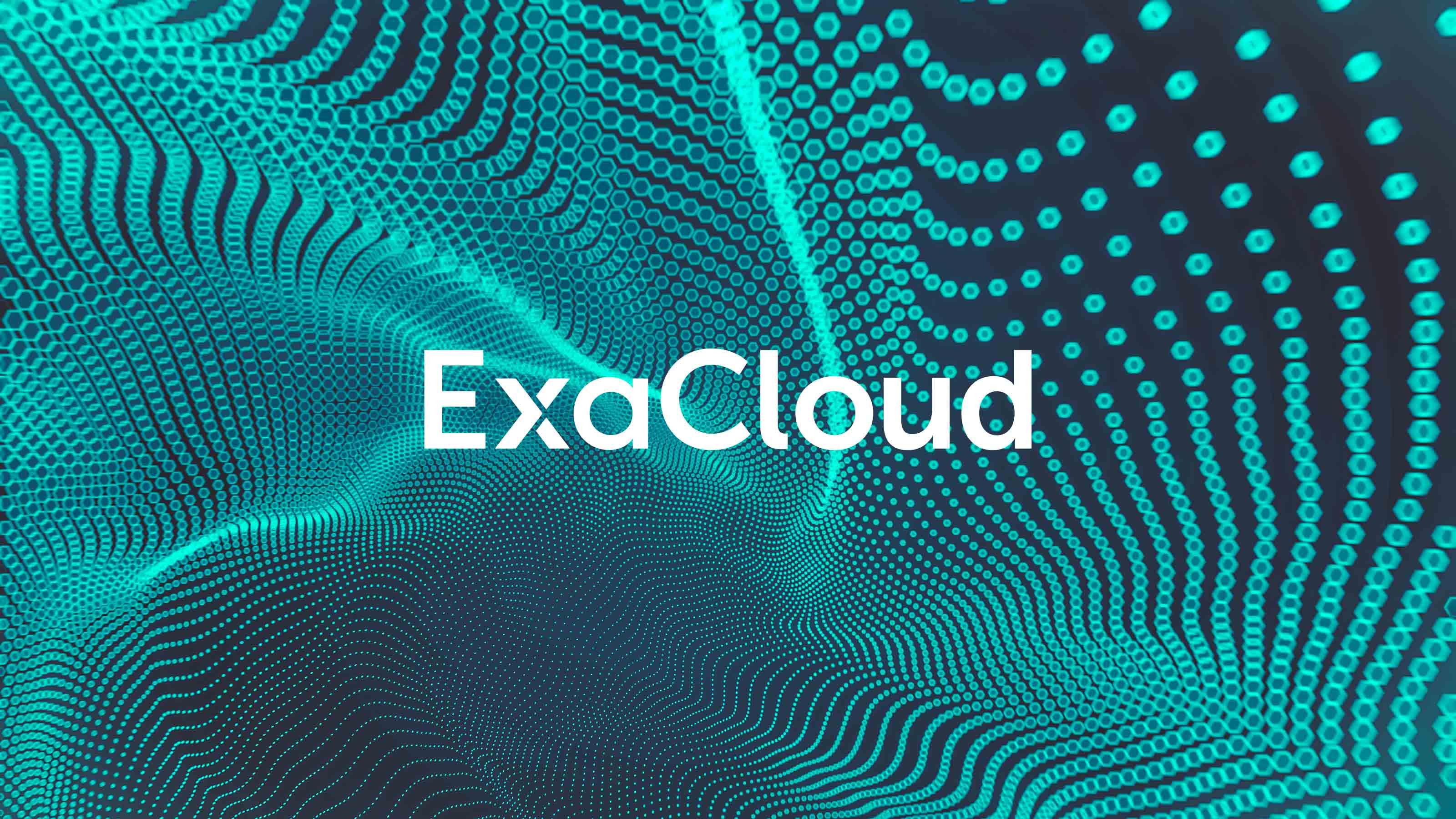 Brand logo blue background Exasol