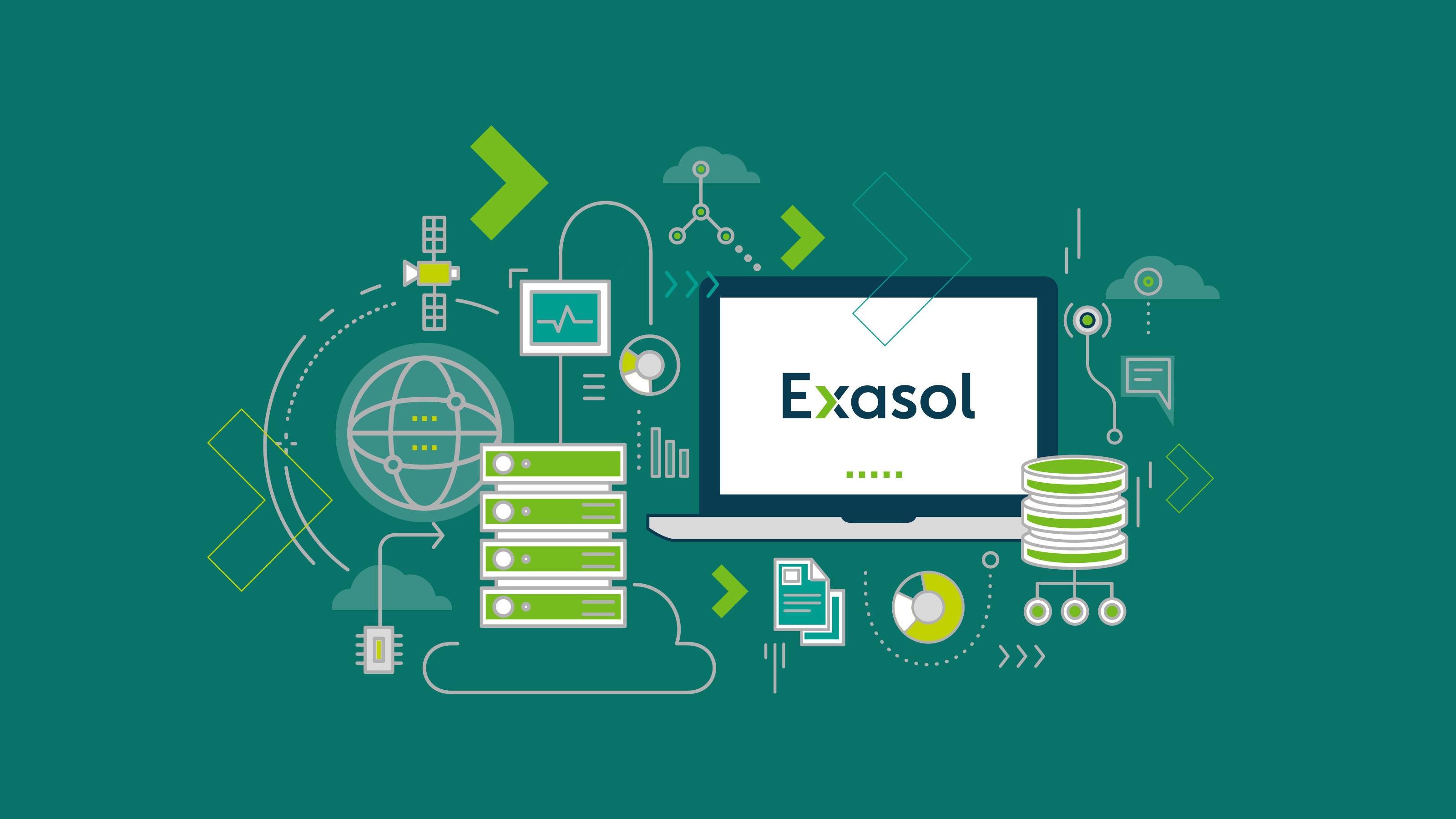 Brand illustration technology Exasol