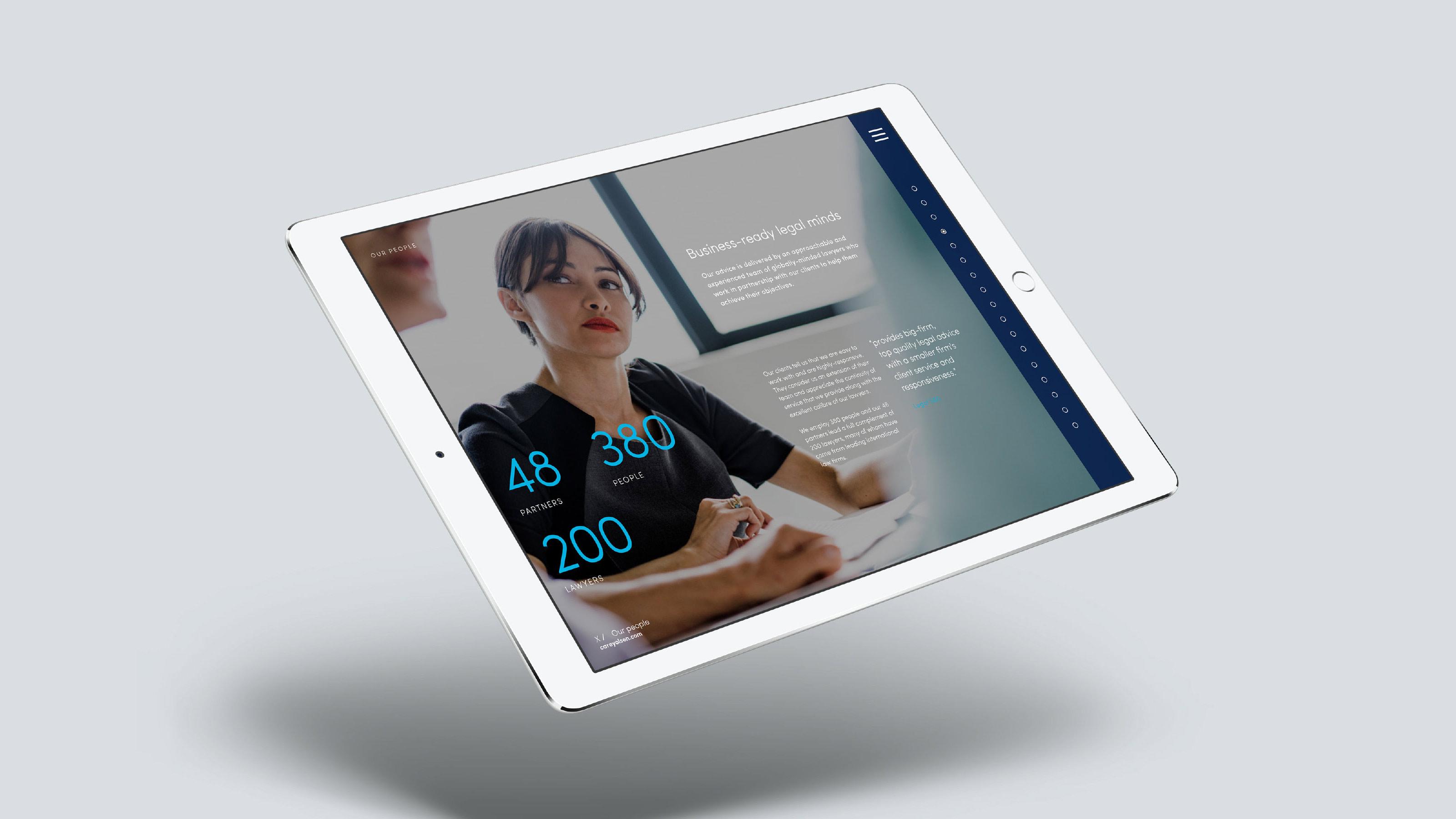 Brand tablet design Carey