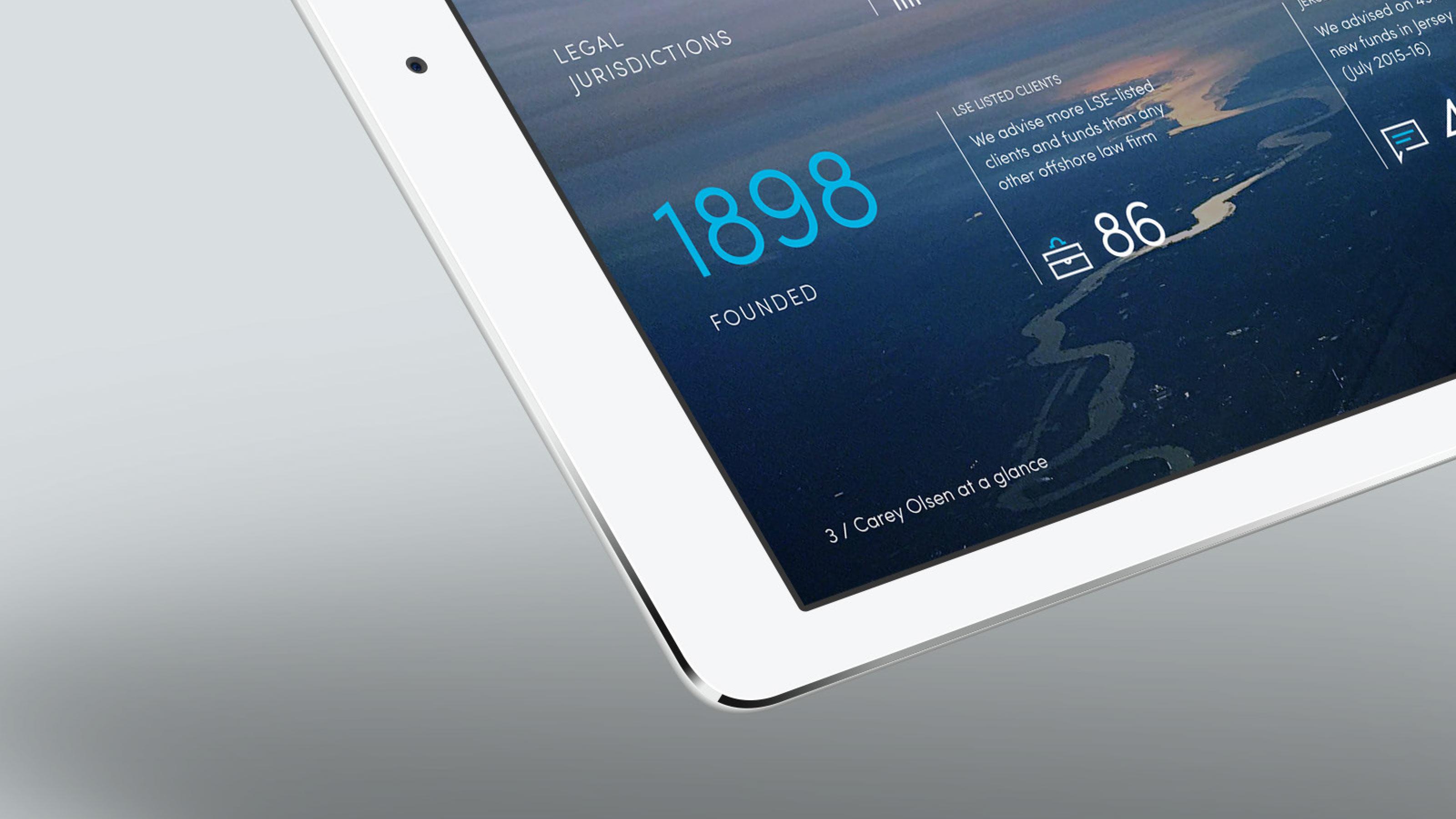 Brand tablet screen Carey