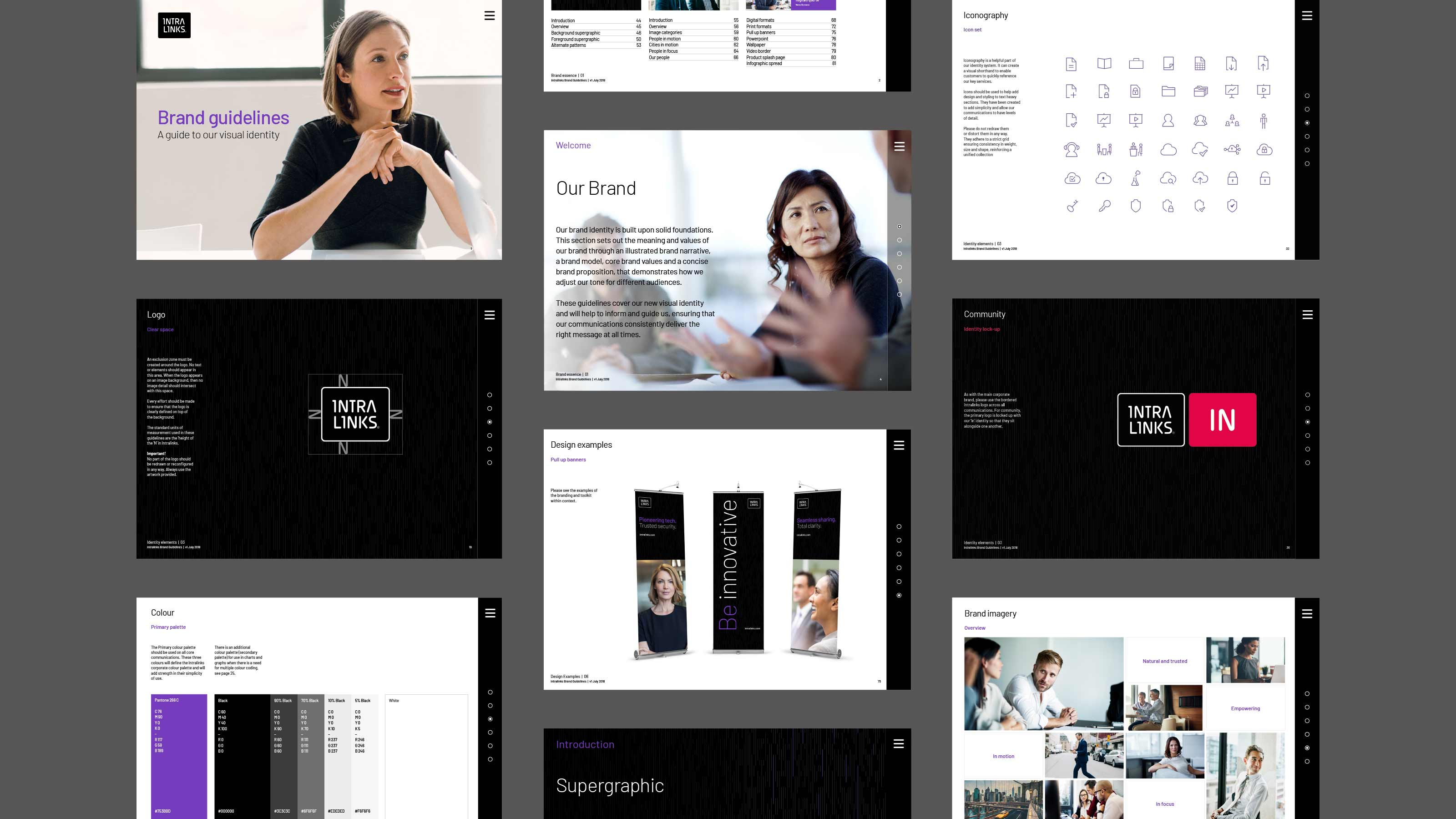 Intralinks_Brand_design_layout_screens