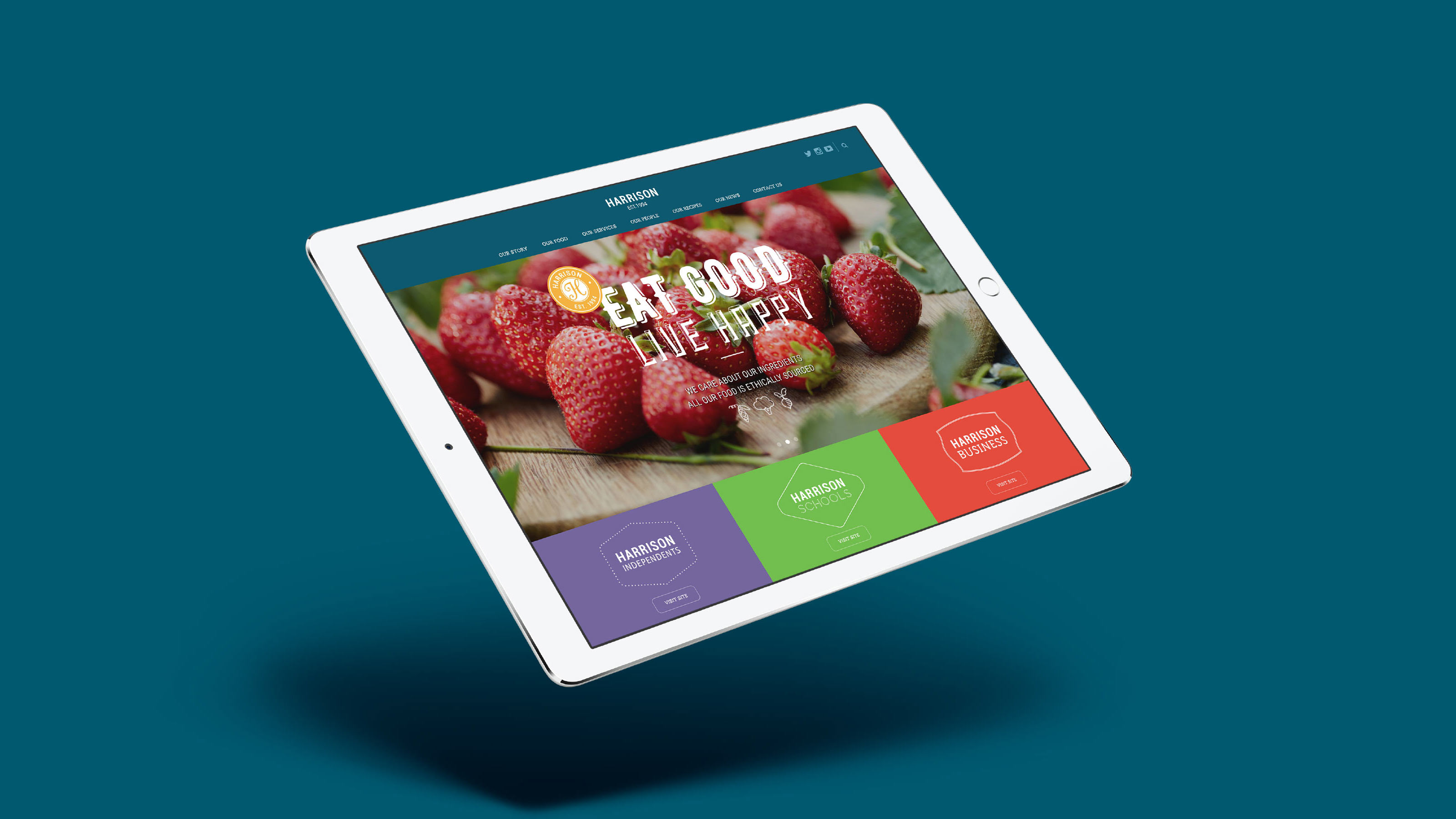 Harrison Brand tablet website design