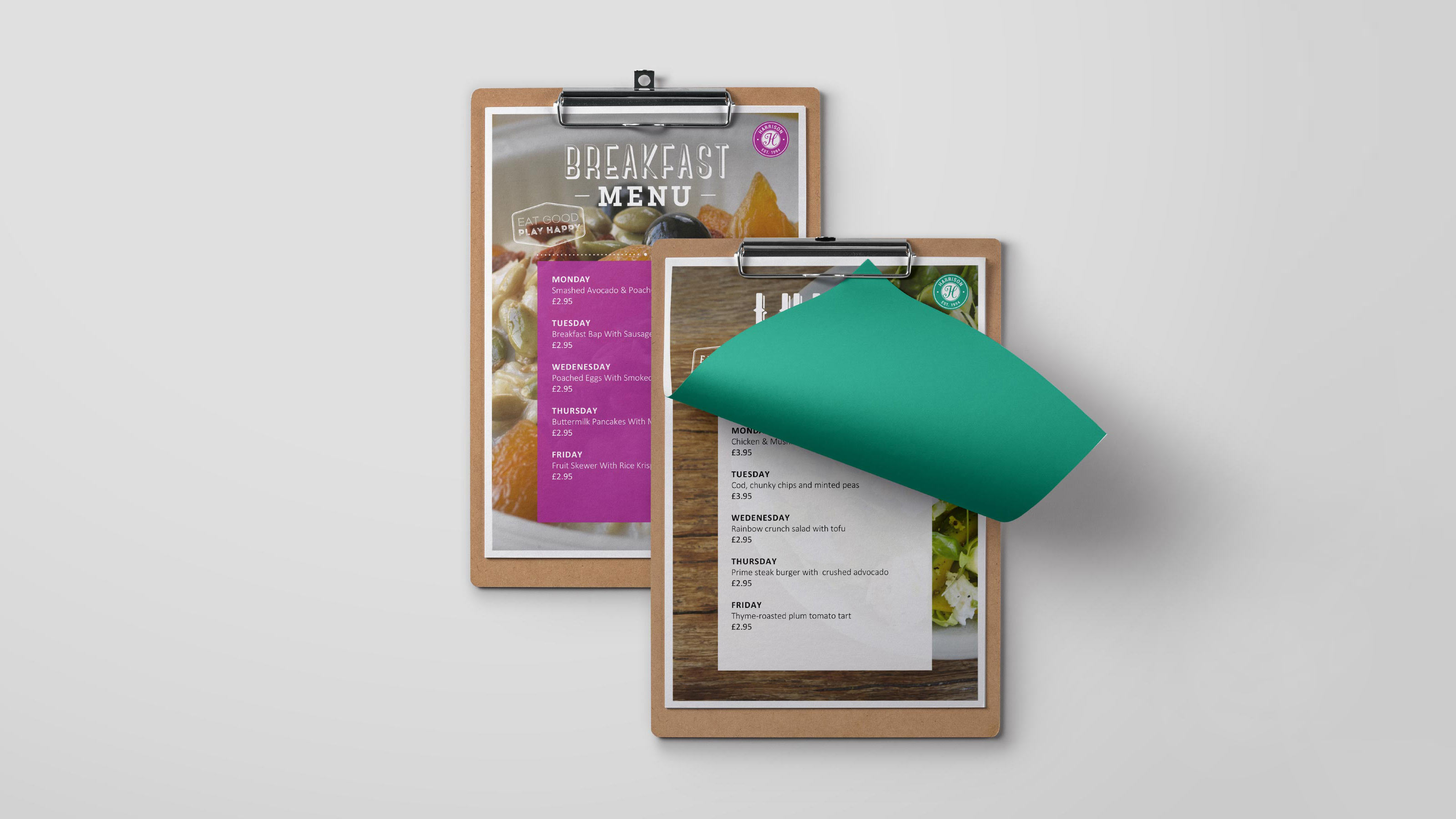 Harrison Brand menus
