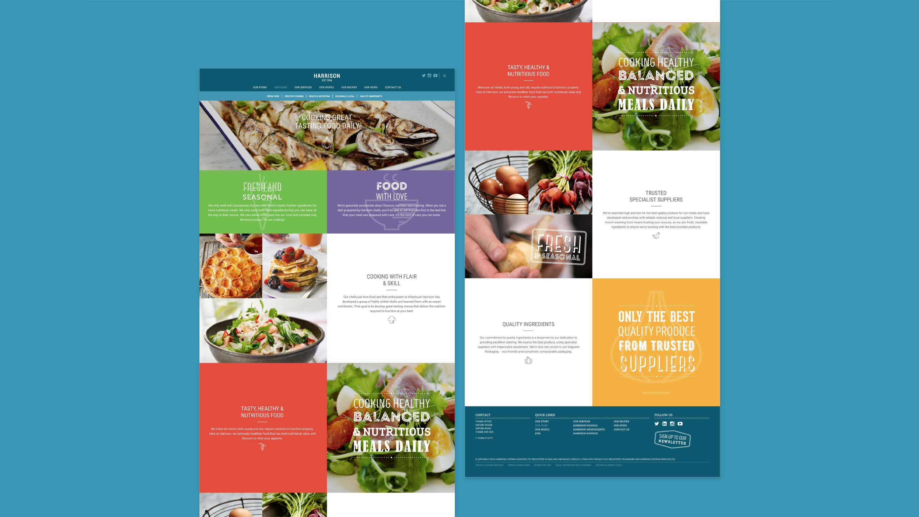 Harrison Digital web pages design