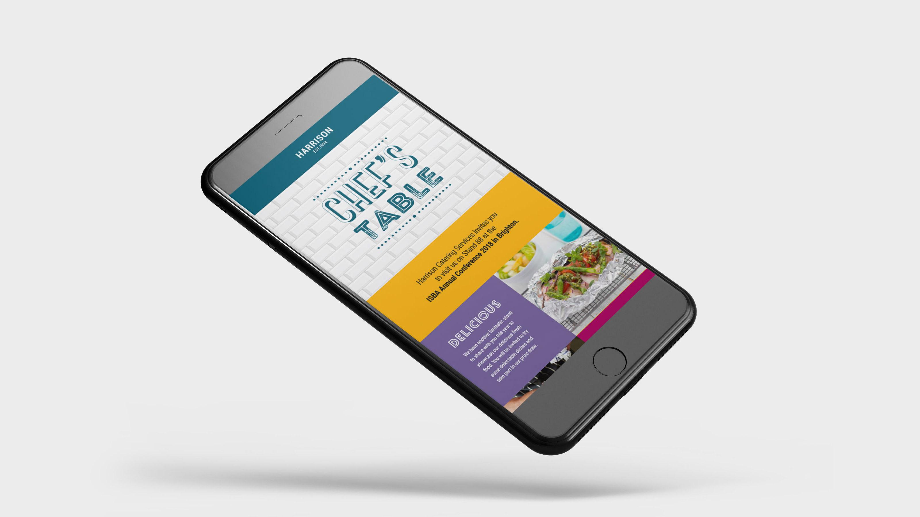 Harrison Marketing mobile screen