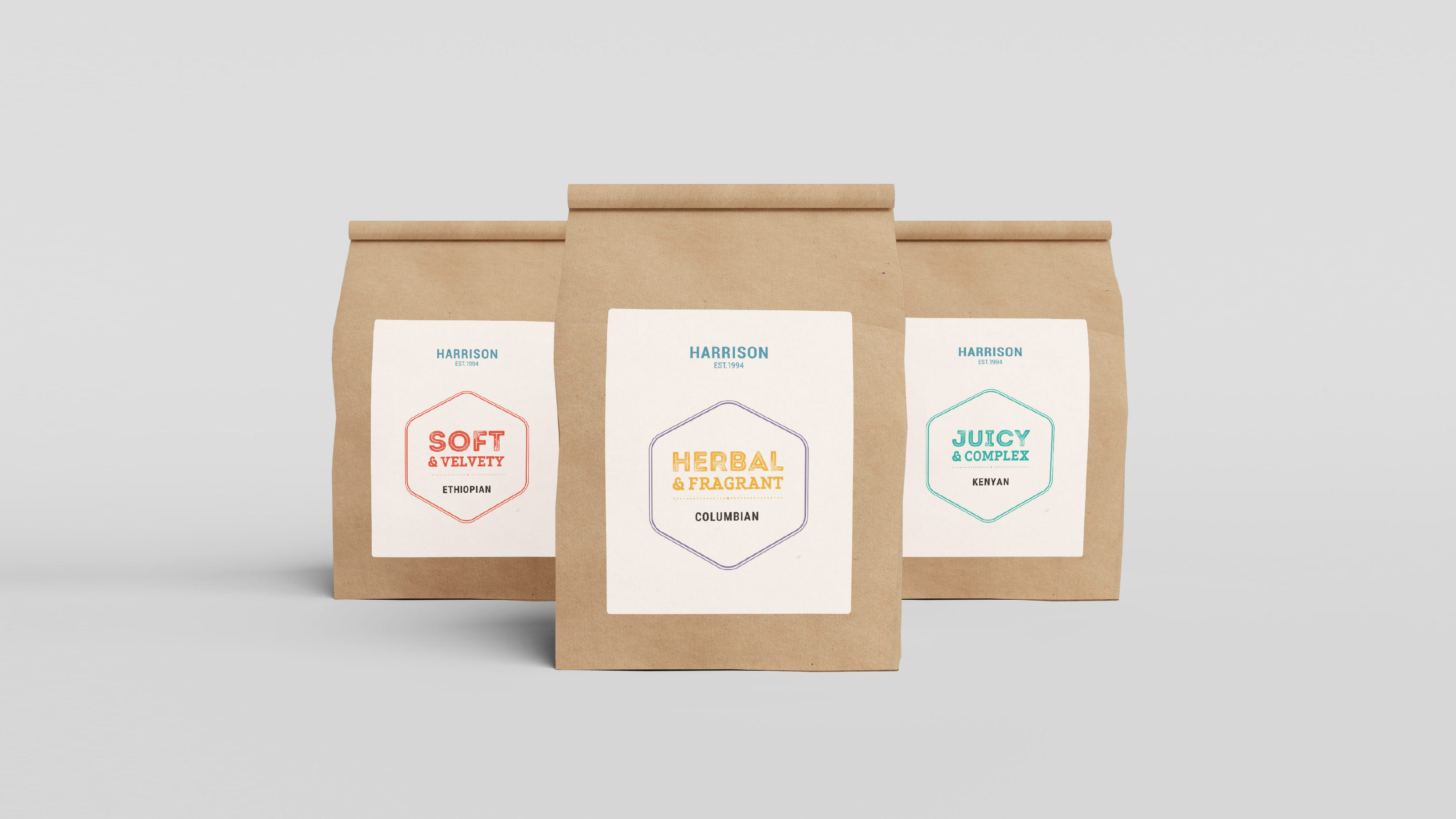 Harrison Marketing coffee bags