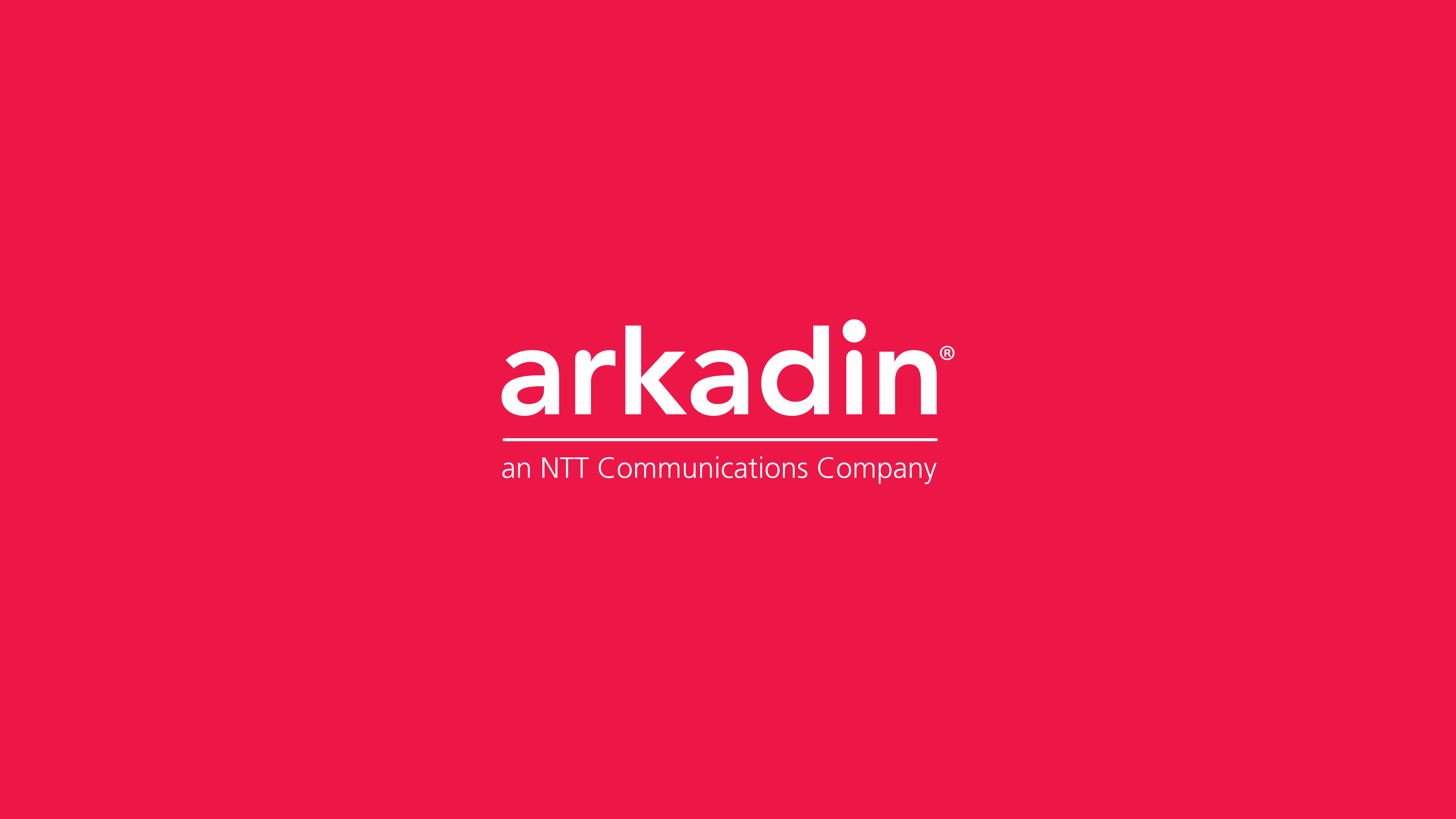brand logo red background Arkadin