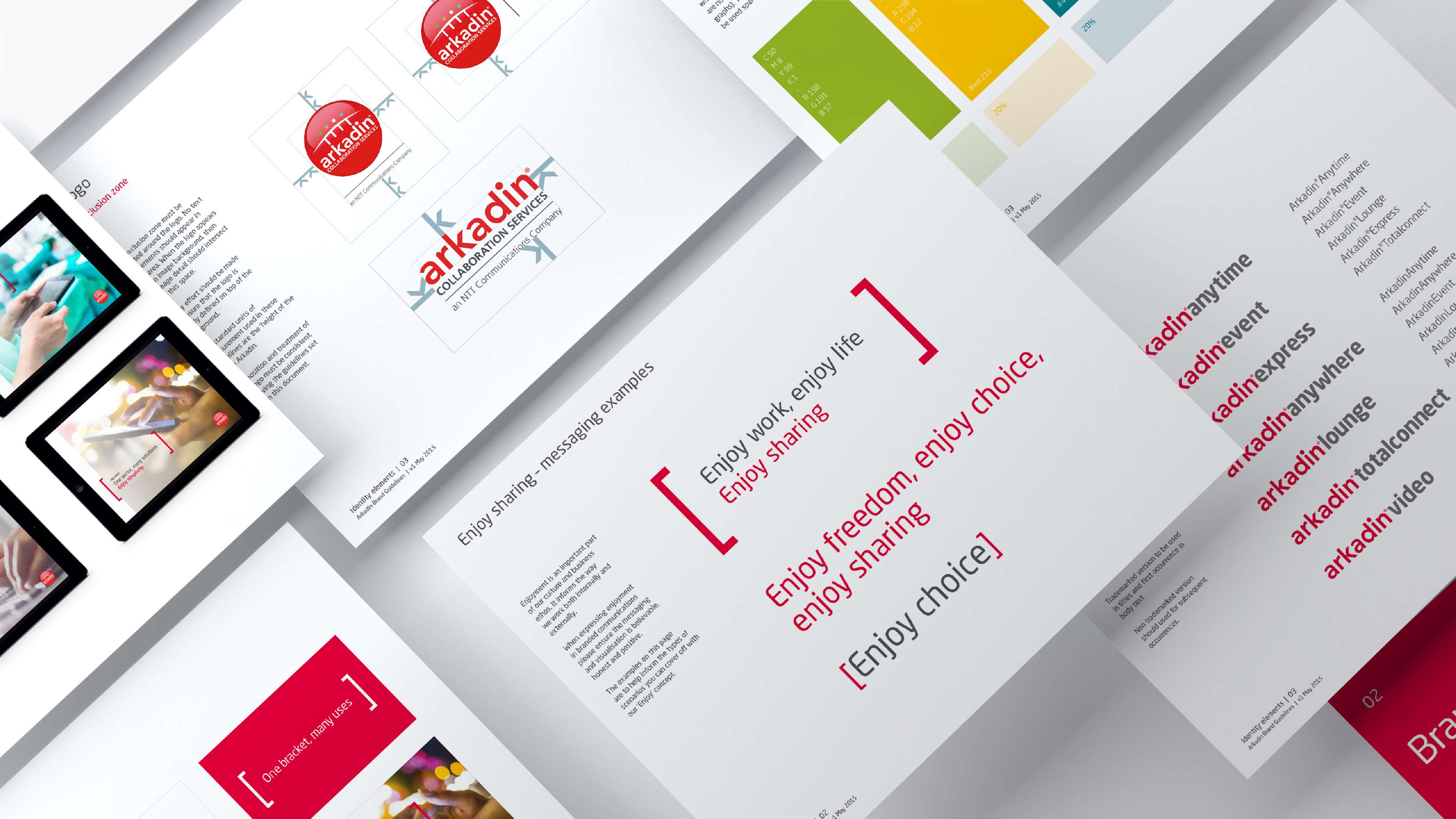 Brand visual identity Arkadin
