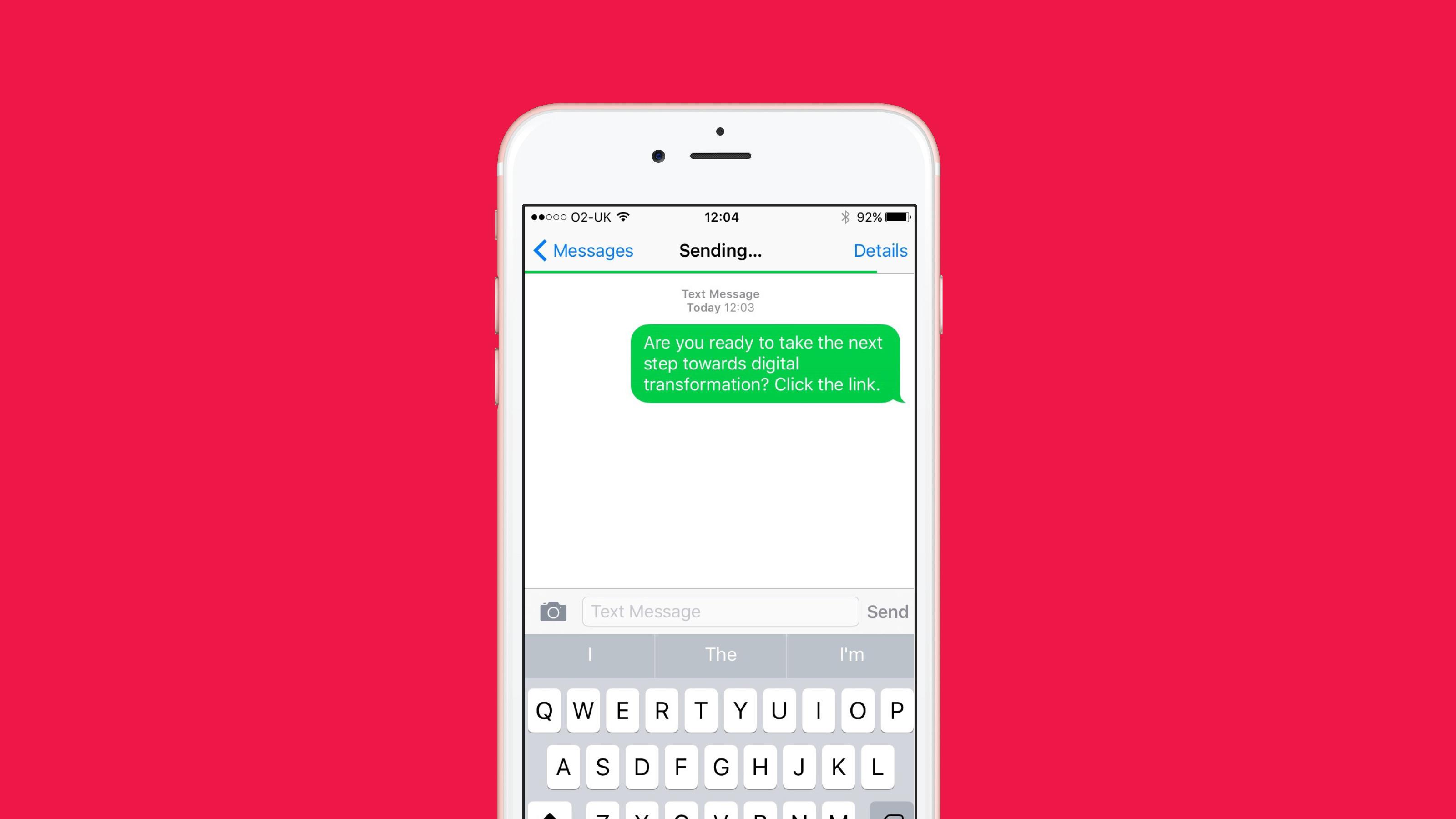 Brand iphone screen message Arkadin