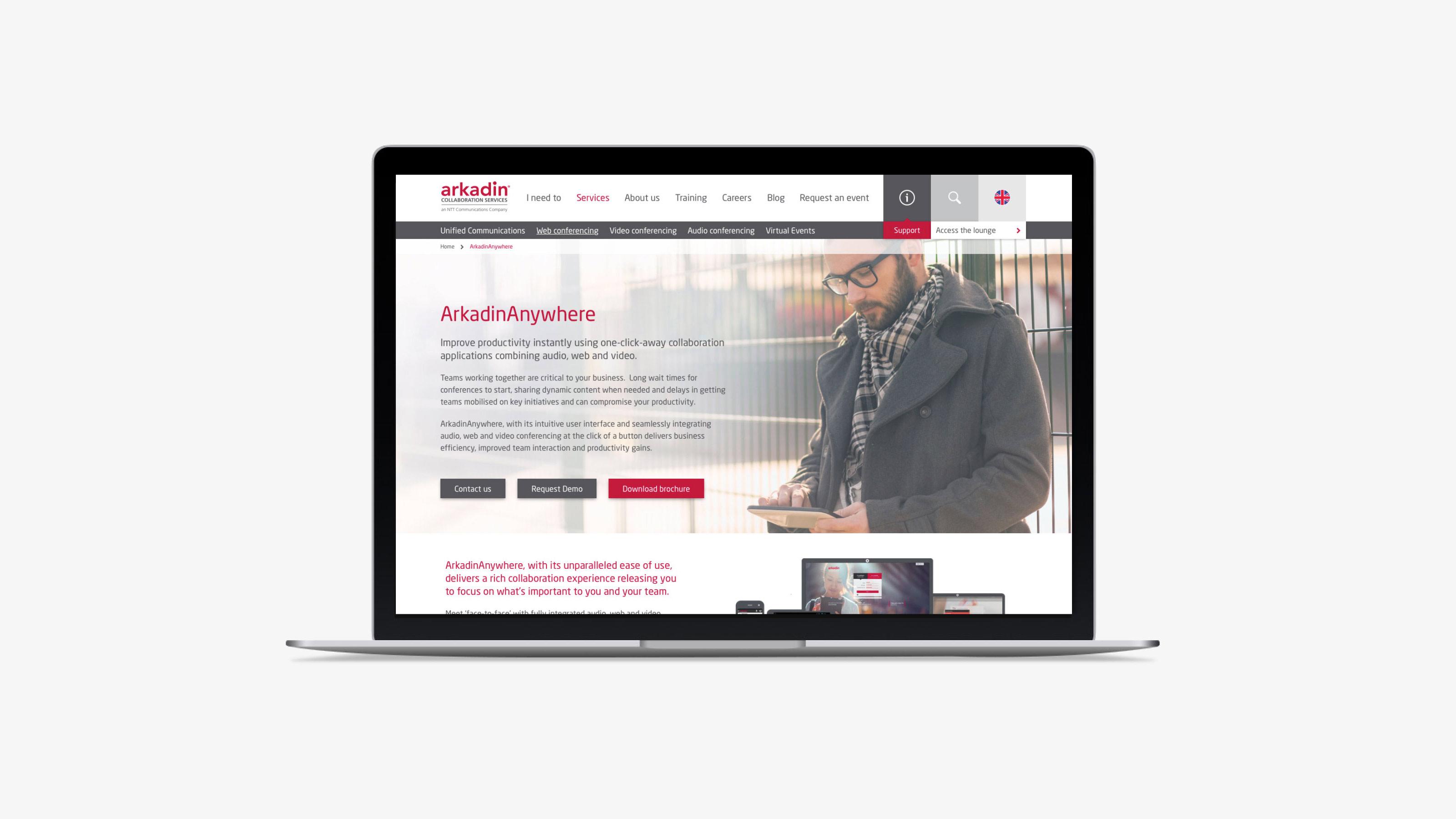 Digital web page design Arkadin