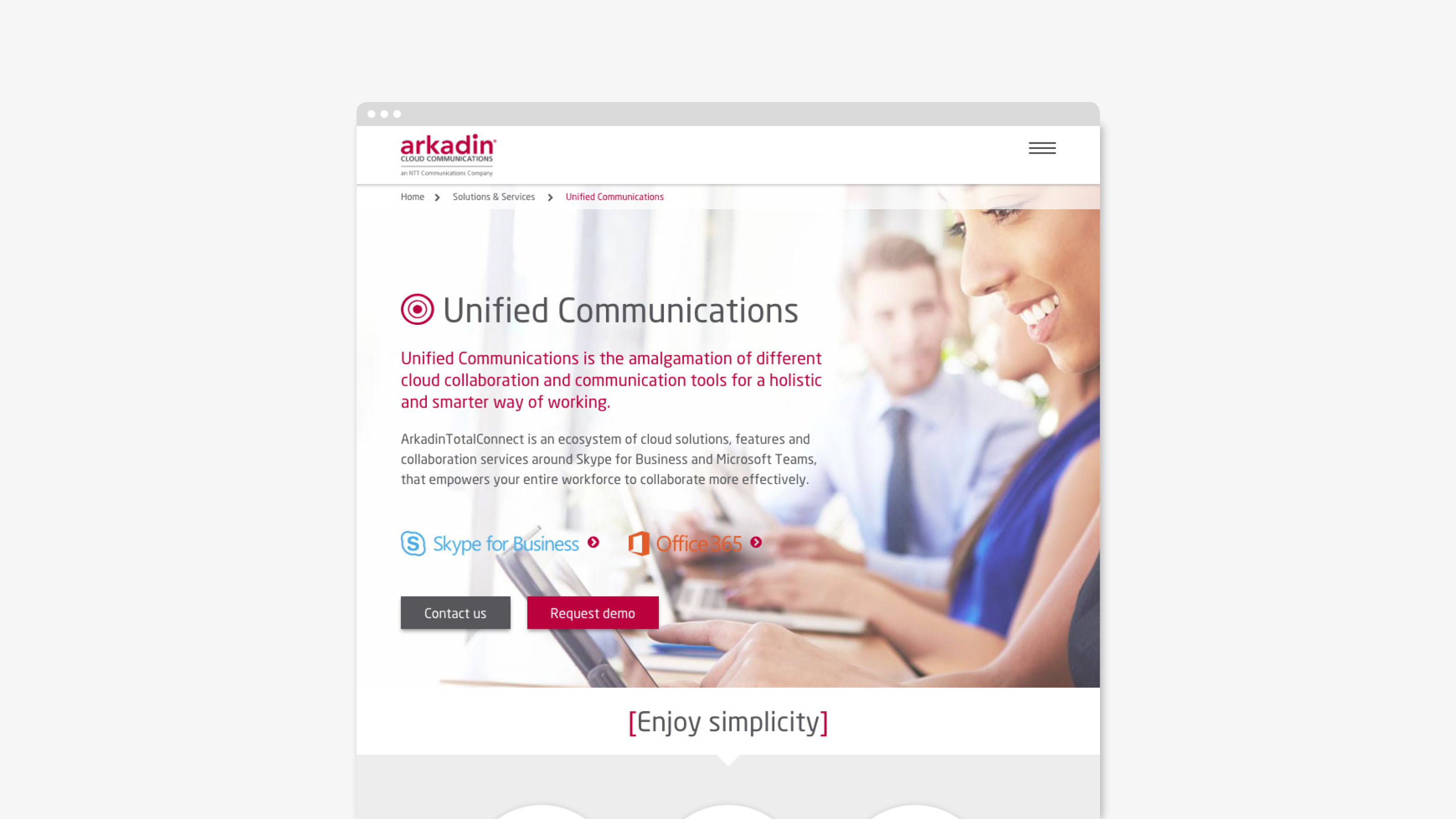 Digital web screen Arkadin
