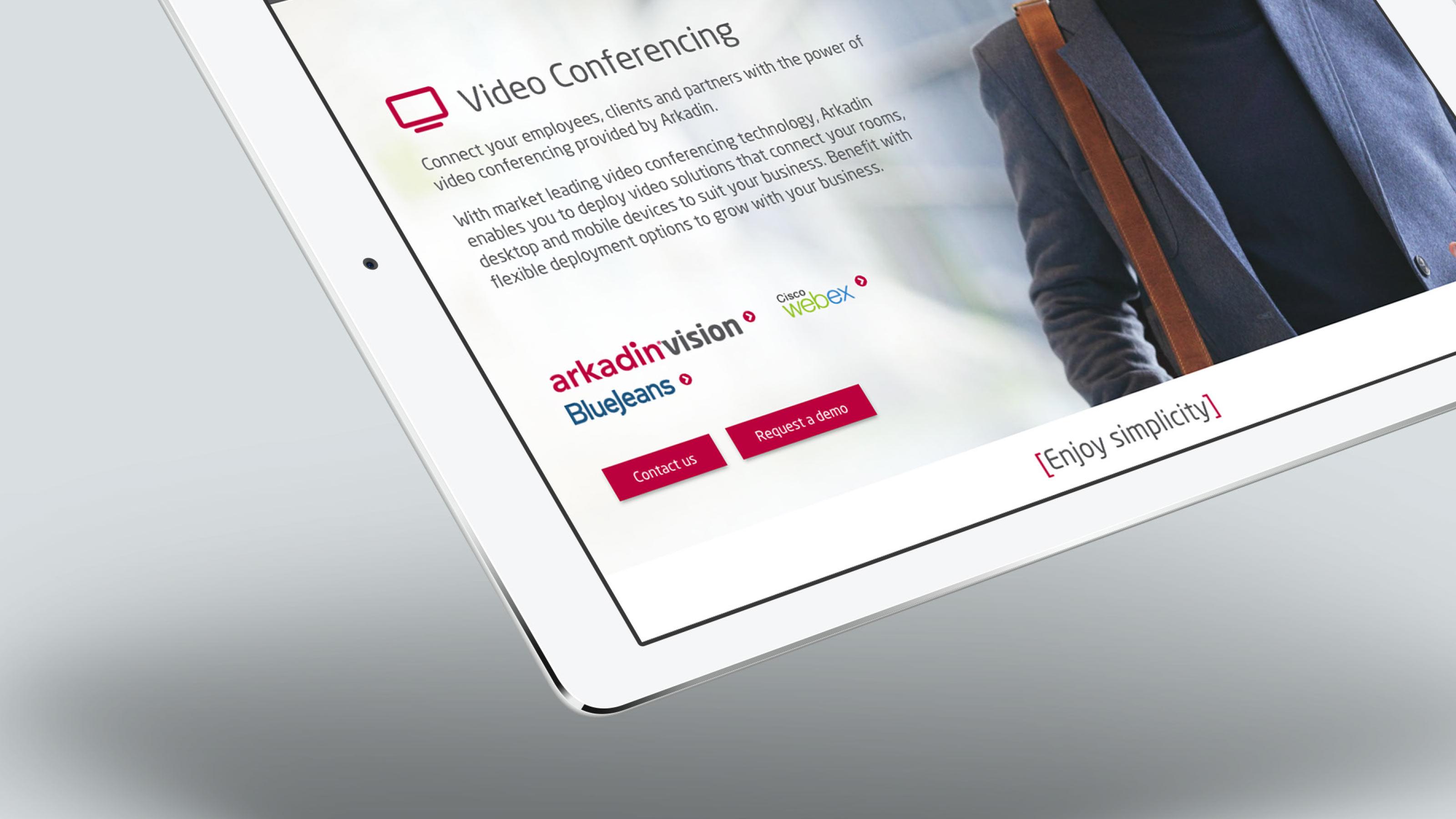 Digital tablet page Arkadin