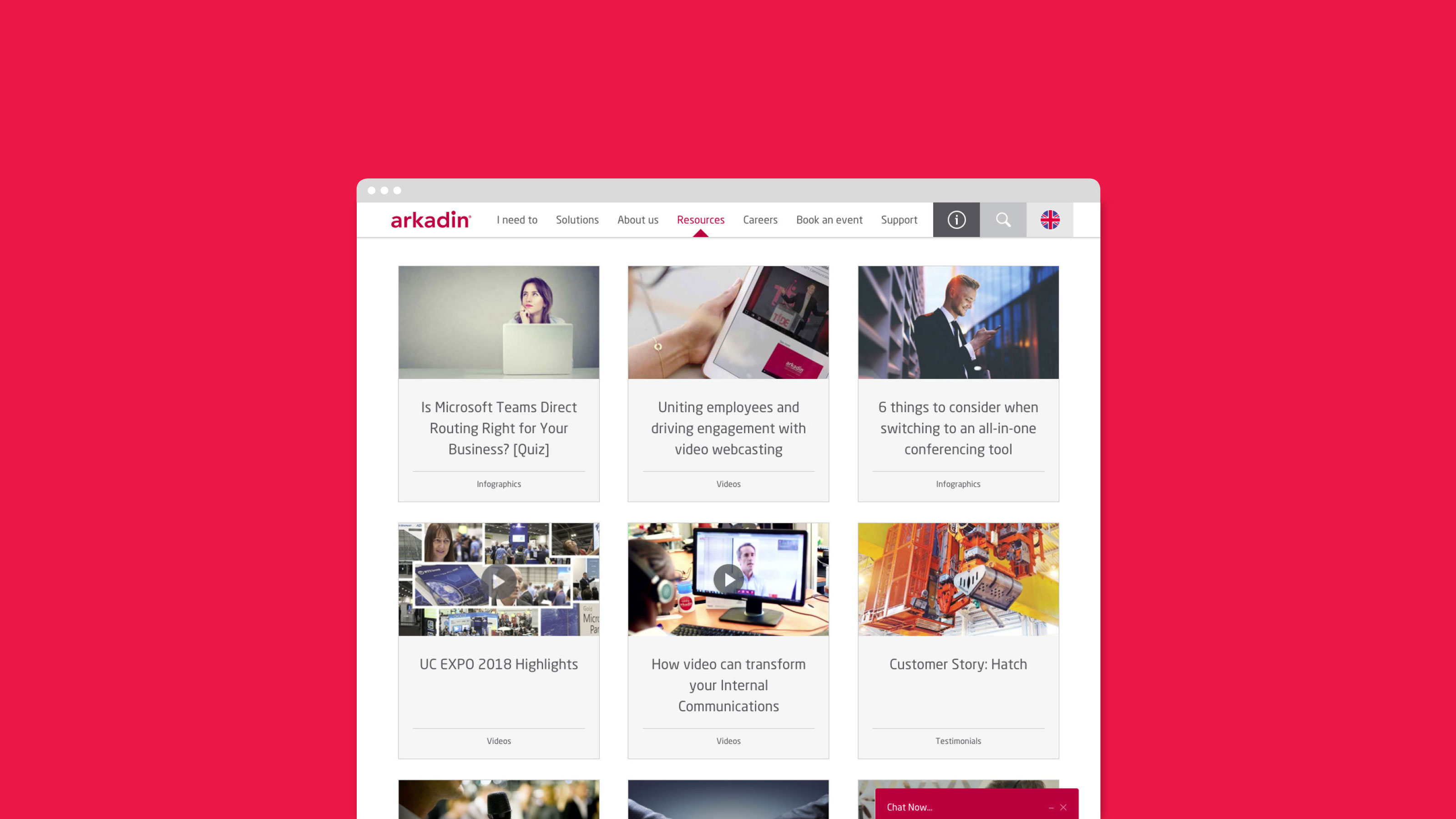 Digital web design Arkadin