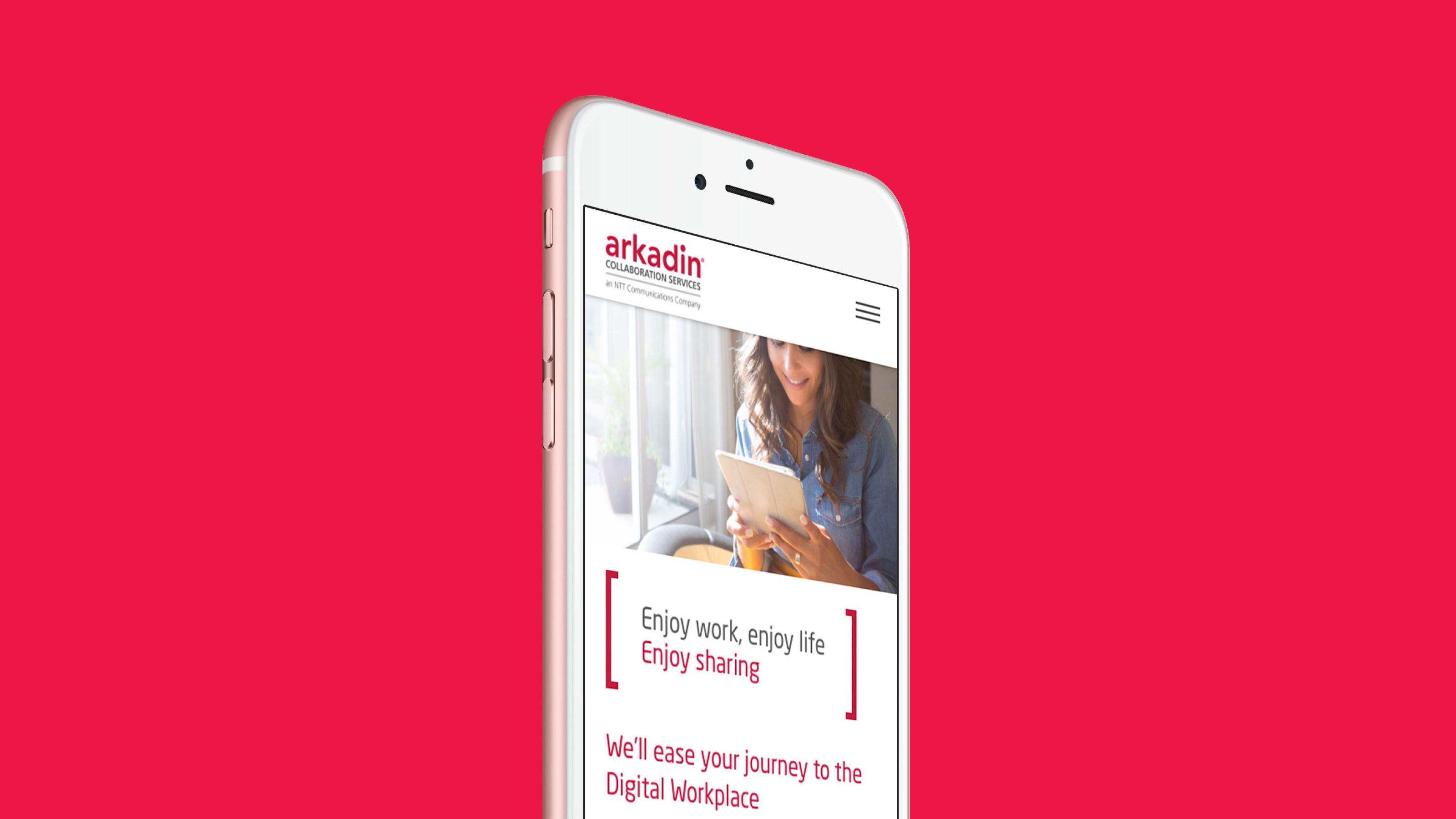Digital responsive mobile design Arkadin