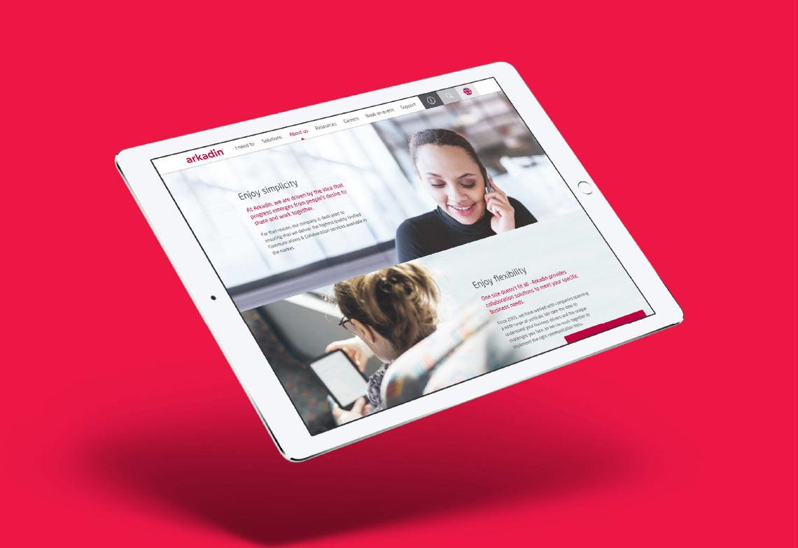 Arkadin Digital tablet screen