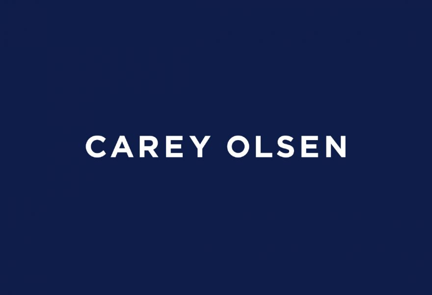 logo blue background Carey Olsen