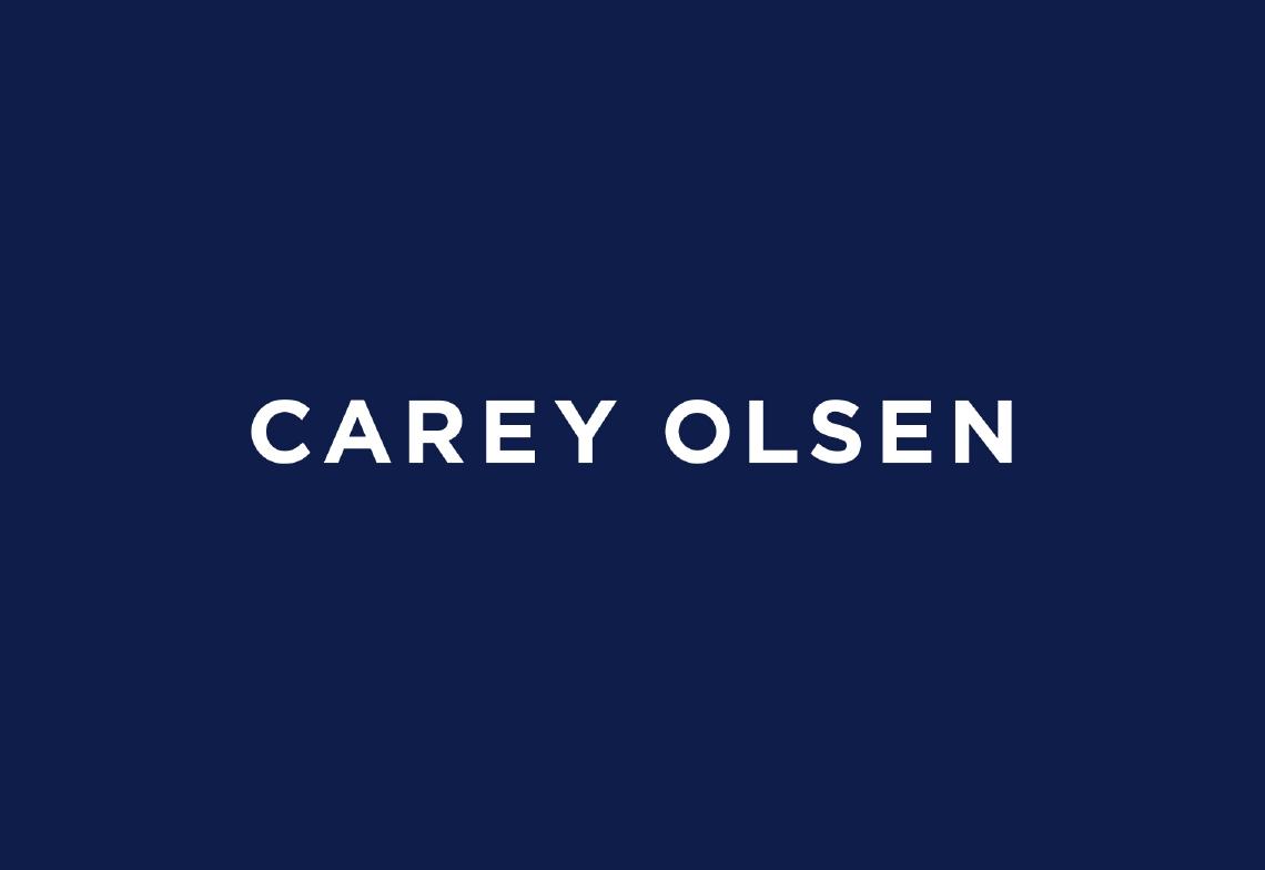 logo blue background Carey Olsen