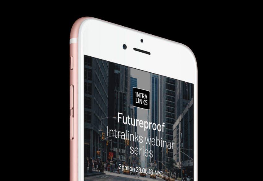 Intralinks Brand mobile screen