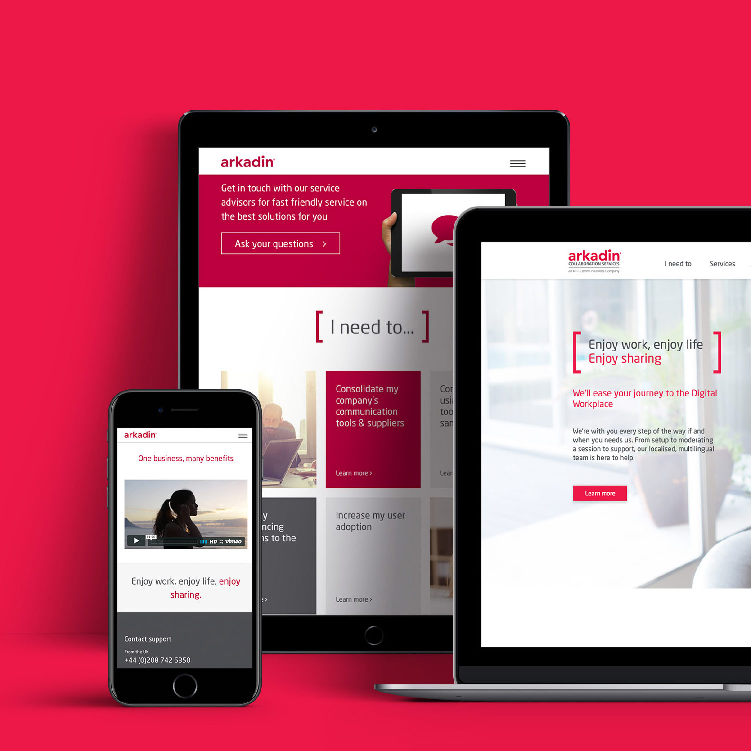 Digital responsive website Arkadin