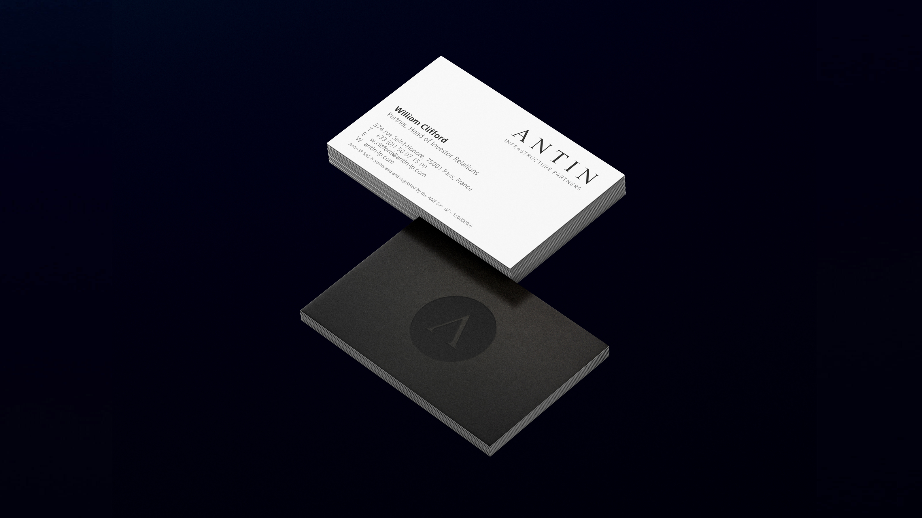 business card antin brand