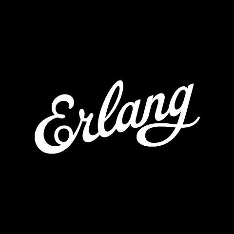 Erlang logo in white