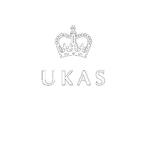UKAS logo in white